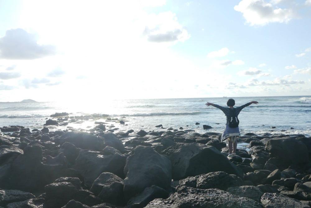 Jeju seashore sky.